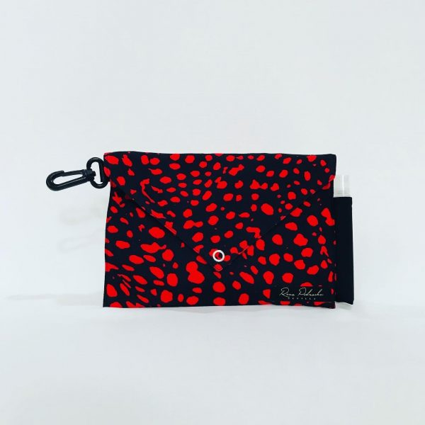 Bolso animal print rojo