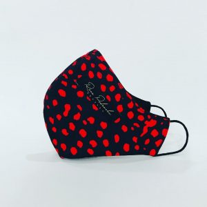 Mascarilla animal print roja